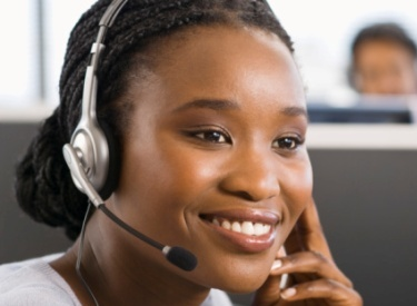 Black Customer Service Agent