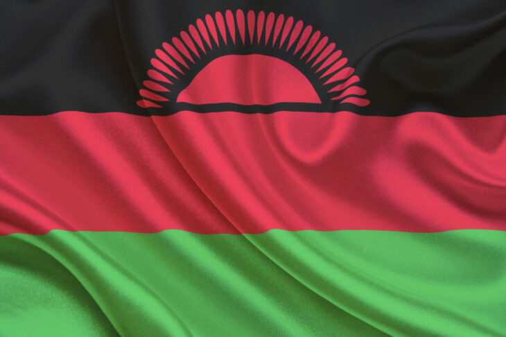 Wavy National Flag of Malawi