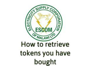 How to retrieve Escom Tokens