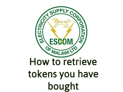 How to retrieve Escom Tokens