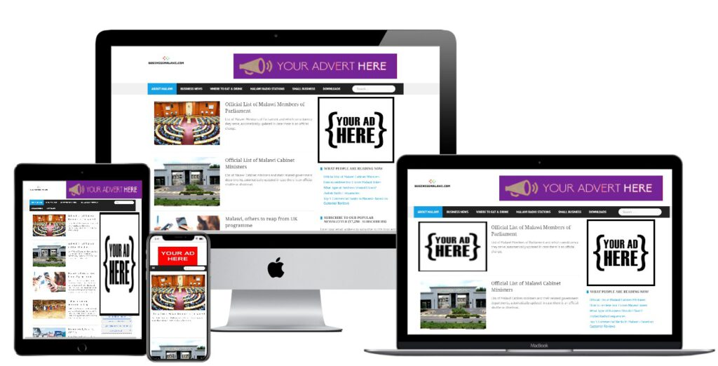Screenshot of BusinessMalawi.com