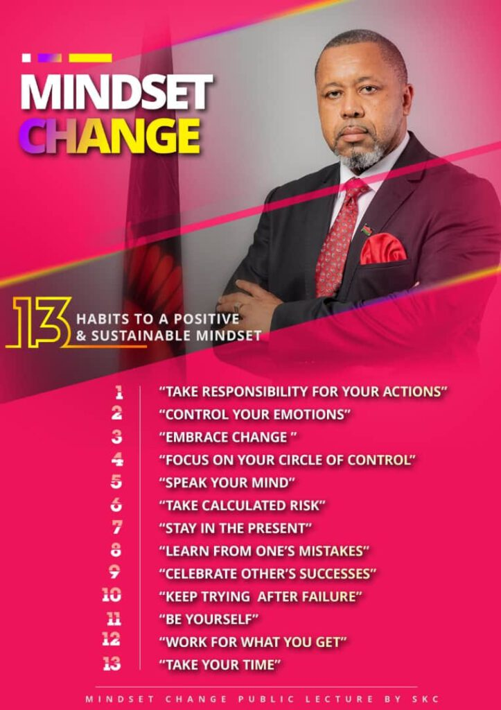 13 habits to follow by Chilima