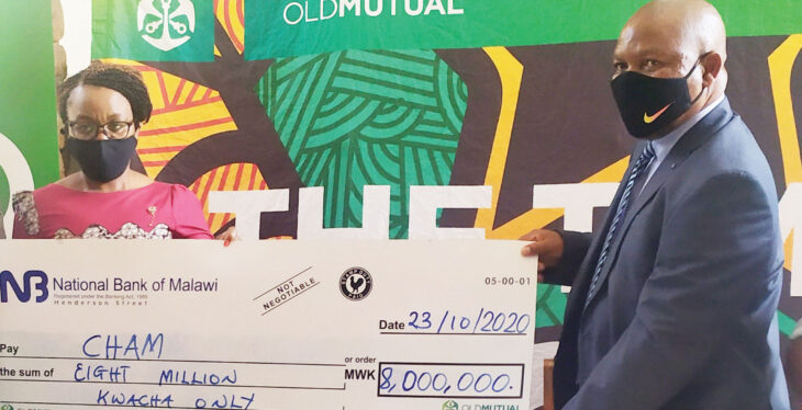 Old Mutual donates K8 million to Cham