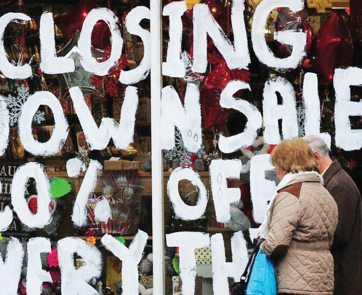 Retail sales in 2020 'worst for 25 years'
