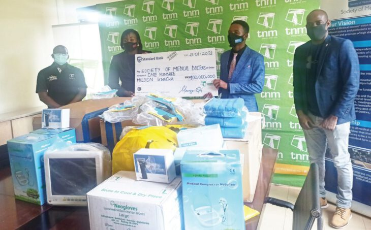 TNM donates K100 million medical supplies to doctors