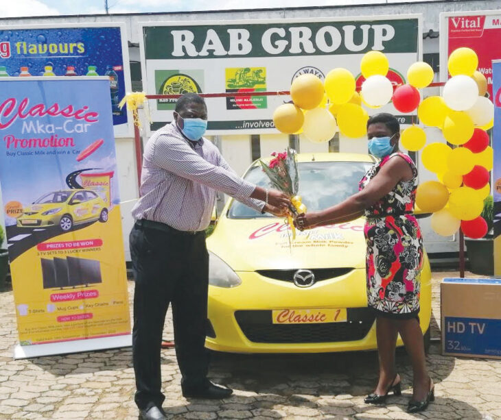 Woman wins car in Rab Promotion