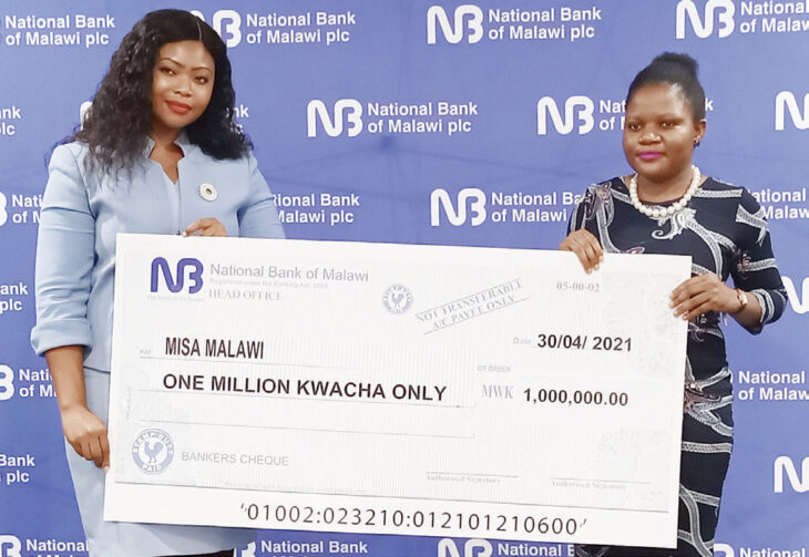 National Ban of Malawi donates to Misa Malawi