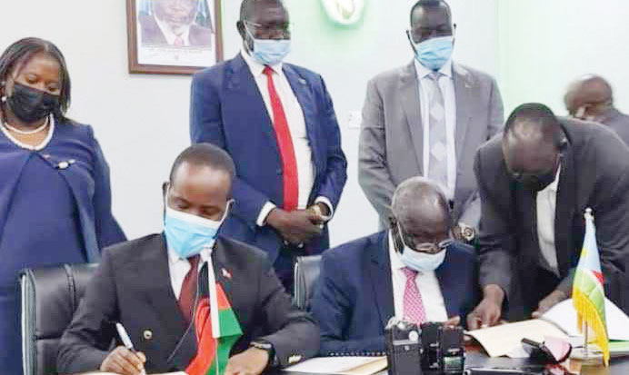 Malawi, South Sudan sign $150 million deal
