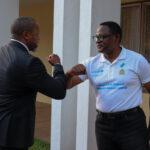 Lazarus Chakwera Hand Bump With Saulos Chilima