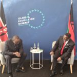 Lazarus Chakwera Laughing With President Of Kenya