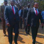 Lazarus Chakwera Outside Court With Chilima