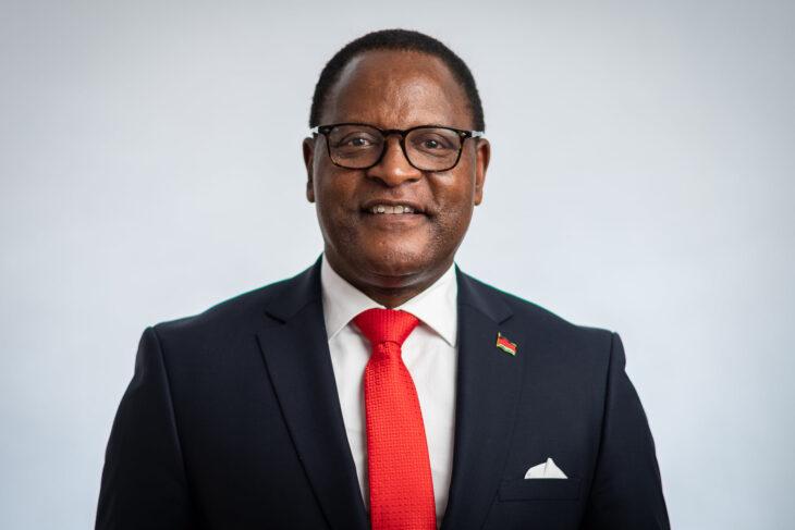 Lazarus Chakwera Smiling