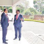 Lazarus Chakwera Talking To Sidik Mia