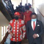 Lazarus Chakwera Walking Down Stairs