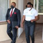 Lazarus Chakwera Walking With Vice President