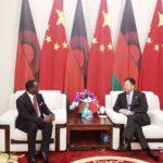 Lazarus Chakwera With China Minister