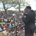 Lazarus Chakwera With Mcp Flag