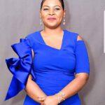 Mary Bushiri Blue Dress
