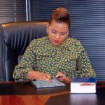 Mary Bushiri Using Tablet