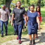 Mary Bushiri Walking With Husband