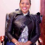 Mary Bushiri Wearing Leather Jacket