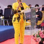 Mary Bushiri Wearing Yellow Black Outfit