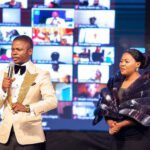 Mary Bushiri With Shiny Outfit And Husband