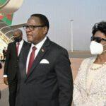 Monica Chakwera At Airport