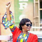 Monica Chakwera Raising Fist