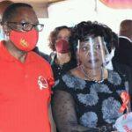 Monica Chakwera Wearing Covid Clear Mask