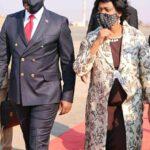 Monica Chakwera With Chakwera Walking