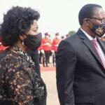 Monica Chakwera With Husband Wearing Black