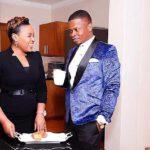 Shepherd Bushiri With Wife Having Tea