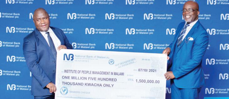 National Bank of Malawi gives K1.5 million to IPMM indaba